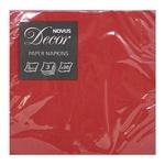Novus Red Paper Napkins 3-Layer 33x33cm 20pc
