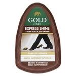 Губка Gold Care мини коричневая для придания блеска обуви