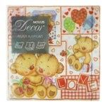 Novus Paper Napkins With Drawing 3-Layer 33x33cm 20pc