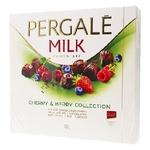 Цукерки Pergale з молочного шоколаду з вишневою та ягідними начинками 130г
