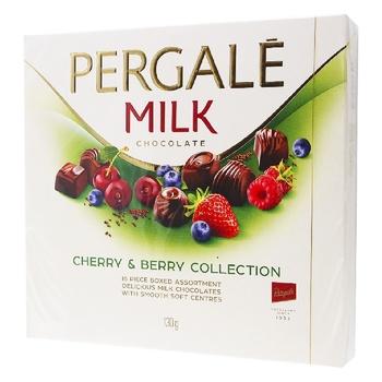 Конфеты Pergale из молочного шоколада с вишневой и ягодными начинками 130г