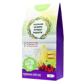 Печиво Кохана без глютену рисове з журавлиною та лаймом 170г - купити, ціни на Фуршет - фото 1