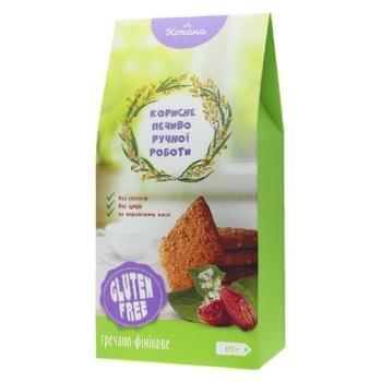 Печиво Кохана без глютену гречнево-фініковое 170г - купити, ціни на Фуршет - фото 1