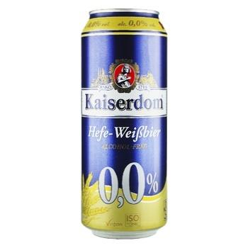 Пиво безалкогольное Kaiserdom Hefe ж/б 0.5л