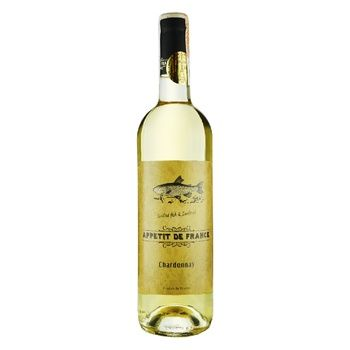 Вино Appetit De France Chardonnay біле сухе 12,5% 0,75л