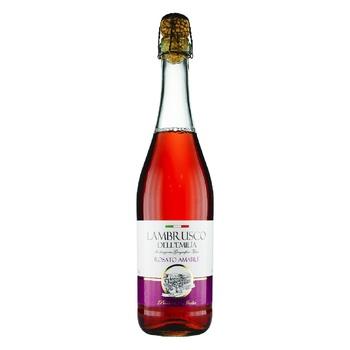 Вино игристое Vini D`Italia Lambrusco Rosato Amabile Dell`Emilia 8% 0,75л