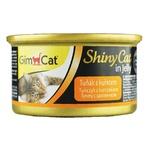 Корм GimCat Shiny Cat для котов всех пород с тунцом и курицей 70г