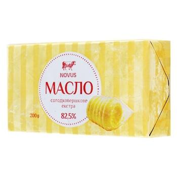 Масло Novus Екстра солодковершкове 82,5% 200г