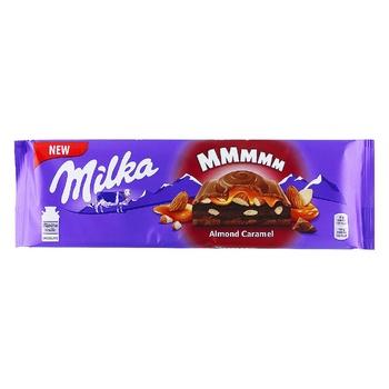 Milka Almond Caramel Milk Chocolate 300g - buy, prices for CityMarket - photo 1