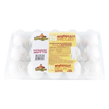 Яйця курячі Від доброї курки Кошик Життя С0 15шт - купити, ціни на Ашан - фото 2