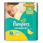 Подгузники Pampers New Baby Размер 1 2-5 кг 27шт
