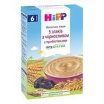 Milk multigrain porridge HiPP 5 grains with prune with prebiotics for 6+ months babies 250g