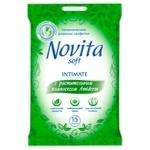 Салфетки влажные Novita для интимной гигиены 15шт