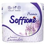 Бумага туалетная Soffione Toscana Lavender 4 рулона