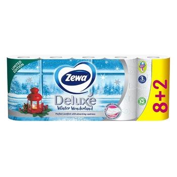 Папір туалетний Zewa Deluxe Delicate Care білий 3-х шаровий 8шт - купити, ціни на Восторг - фото 6