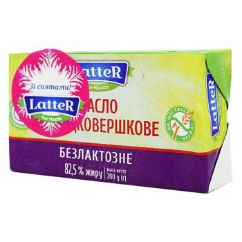 Масло LatteR сладкосливочное безлактозное 82.5% 200г - купить, цены на Ашан - фото 1