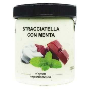 Мороженое La Gelateria italiana Мятная страчатела 330г
