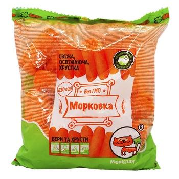 Морква Полтава-Сад палички шліфована 420г