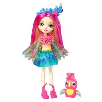 Кукла Enchantimals Попугайчик Пикки с питомцем - купить, цены на Ашан - фото 1