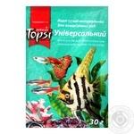 Корм Topsi Універсальний сухий натуральний для акваріумних риб 30г