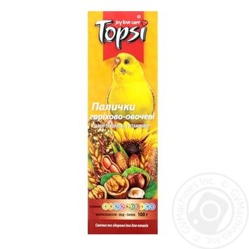 Topsi Nut and Vegetable Sticks for Parrots 100g - buy, prices for Auchan - photo 1