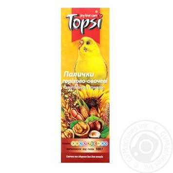 Палочки Topsi орехово-овощные для попугаев 100г - купить, цены на Ашан - фото 1