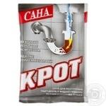 Очиститель для сливных труб Сана Крот 70г - купить, цены на Ашан - фото 1