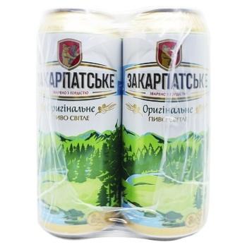 Пиво Закарпатское светлое 4,4% 4x0,5л