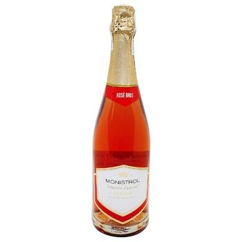 Вино игристое Marques de Monistrol Cava Brut Rose розовое 11,5% 0,75л - купить, цены на Novus - фото 1