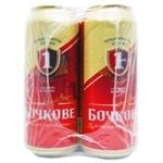 Пиво Перша приватна броварня Бочковое 4,8% ж/б  4штХ0,5л