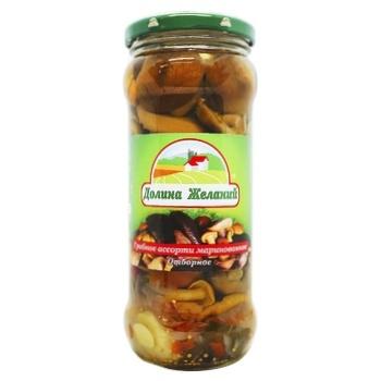 Mushrooms Dolina jelaniy pickled 580ml glass jar - buy, prices for Furshet - image 1