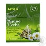 Смесь чая Novus Альпийские травы травяной с цветочным, фруктовым и плодово-ягодным 2г*15шт