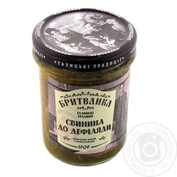 Консервы мясная бритванках Свинина К Дефиляде 310г - купить, цены на Novus - фото 1