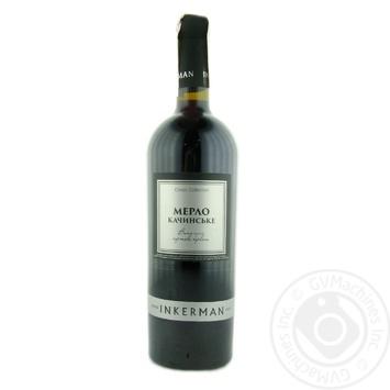 Вино Inkerman Мерло Качинское красное сухое 14% 0.75л - купить, цены на МегаМаркет - фото 1