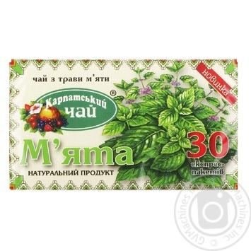 Чай Карпатский чай Мята 30шт 1.35г - купить, цены на Novus - фото 1