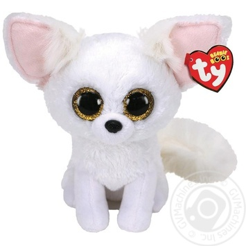 Игрушка мягкая TY Beanie Boo's Fennec белая лиса 15см