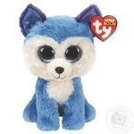Игрушка мягкая TY Beanie Boo's голубой хаски Prince 15см