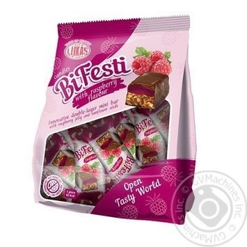 Конфеты Лукас BiFesti со вкусом малины 200г