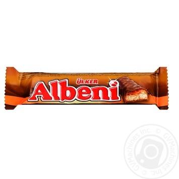 Батончик шоколадный Ulker Albeni с карамелью и печеньем 31г - купить, цены на Восторг - фото 1