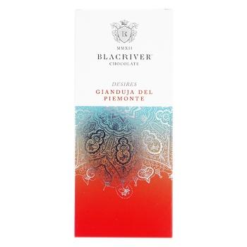 Шоколад Blacriver Gianjuda del Piemonte молочныий с орехами 100г - купить, цены на Novus - фото 1