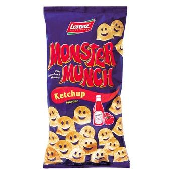 Снеки картофельные Lorenz Monster Munch Кетчуп 75г - купить, цены на Novus - фото 1