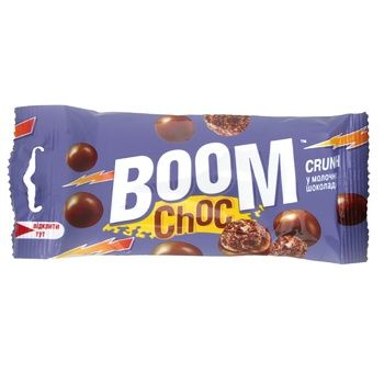 Boom Choc with rice balls in milk chocolate dragee 30g - buy, prices for MegaMarket - image 1