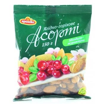 Асорті Аромікс мигдаль-журавлина 150г - купити, ціни на Ашан - фото 1