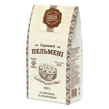 Пельмені Рудь Хуторок Справжні зі свининою та телятиною 600г - купити, ціни на Ашан - фото 1