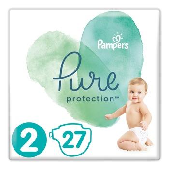 Подгузники детские Pampers Pure Protection Mini 4-8кг 27шт