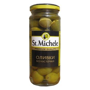 Оливки St. Michele Гордал без кісточки 358мл - купити, ціни на Восторг - фото 1