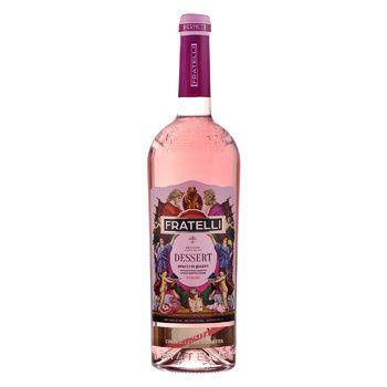 Fratelli Dessert Roze pink sweet dessert sparkling wine 16% 0,75l