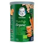Снек Gerber Organic пшенично-вівсяний з морквою та апельсинами для дітей з 10 місяців 35г