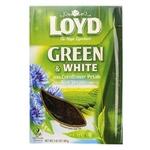 Суміш чаю Loyd зелений та білий з пелюстками волошки та ароматом алое вера 80г