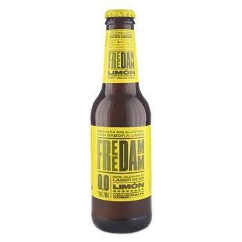 Пиво Estrella Free Damm Lemon безалкогольное 0% 0,25л - купить, цены на Novus - фото 1